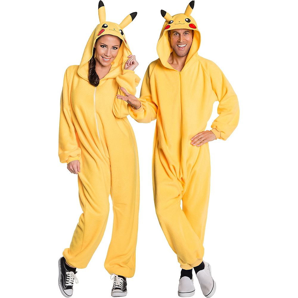 Nav Item for Adult Pikachu One Piece Costume Image #1