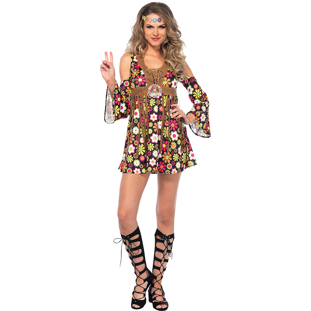 Adult Starflower Hippie Costume Image #1