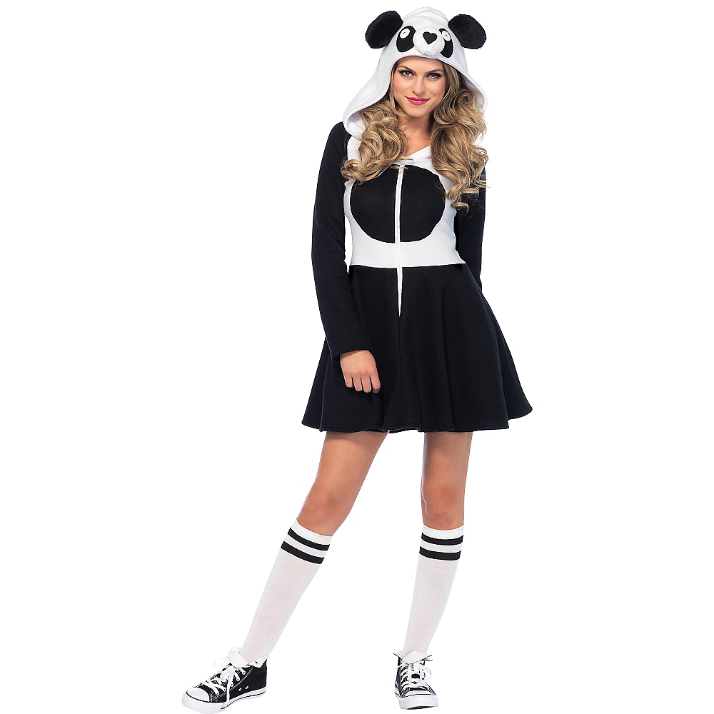 Adult Cozy Panda Costume Image #1