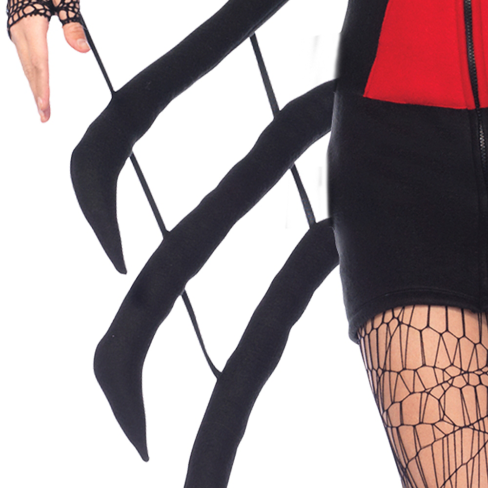 Adult Cozy Black Widow Spider Costume Image #2
