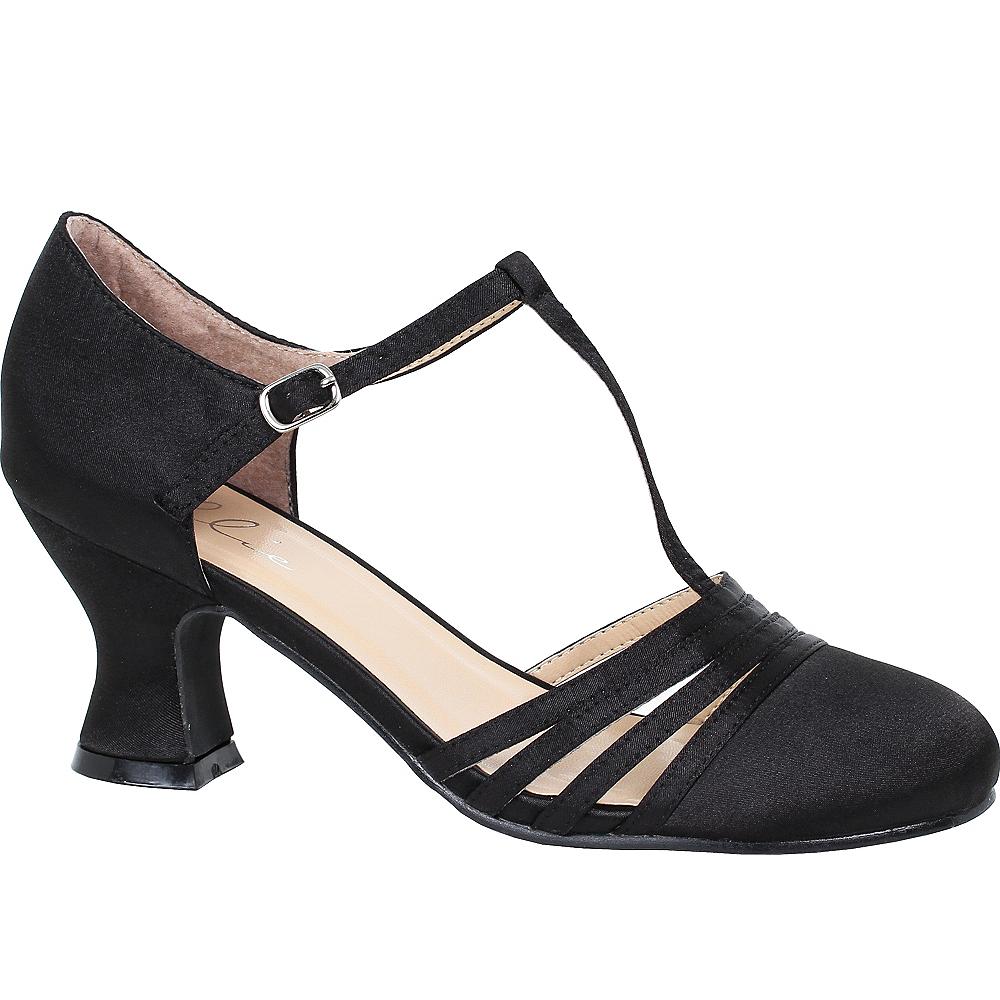 Black T-Strap High Heel Shoes Image #1