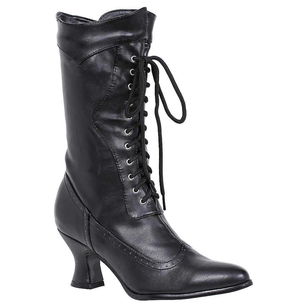 Nav Item for Black Amelia Victorian Boots Image #1