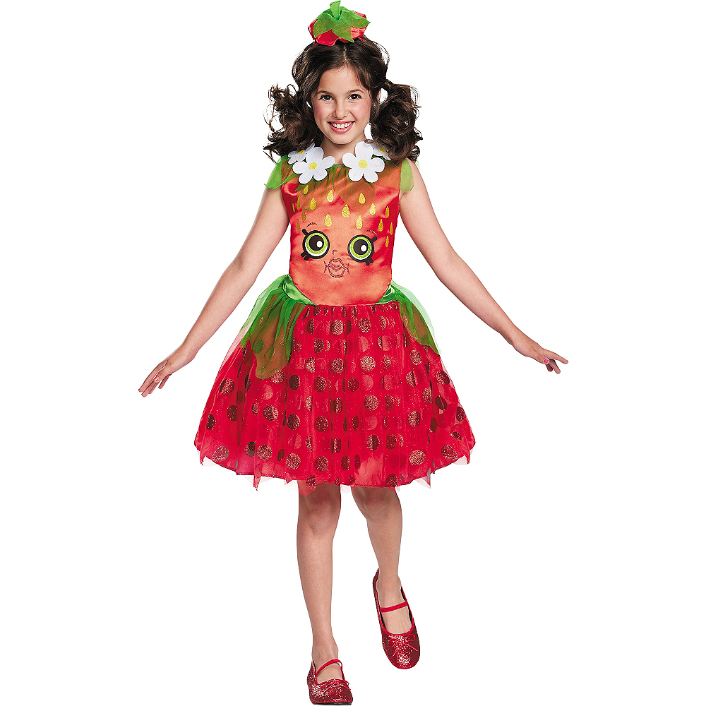 Girls Strawberry Kiss Costume - Shopkins Image #1