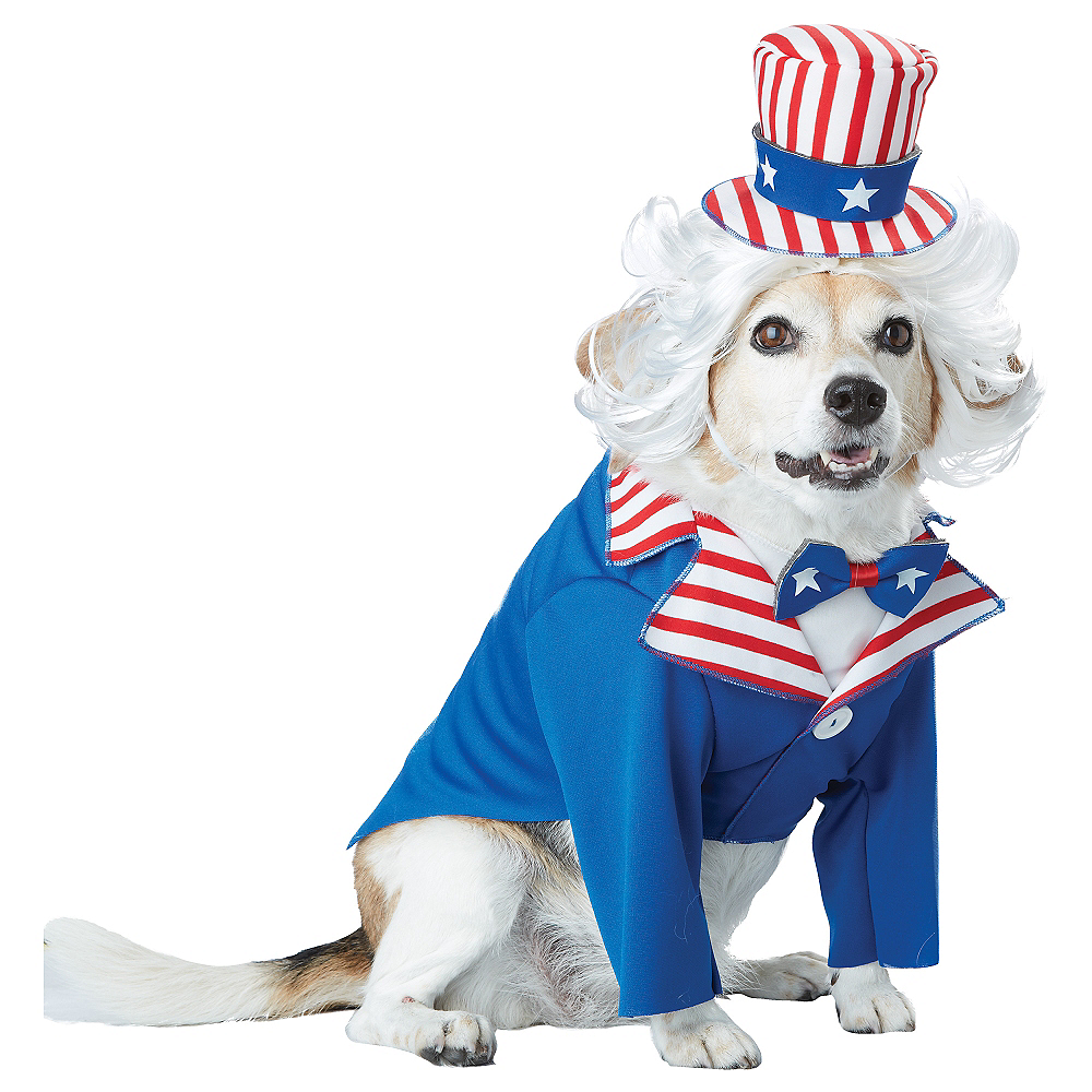 Uncle Sam Dog Costume Image #1