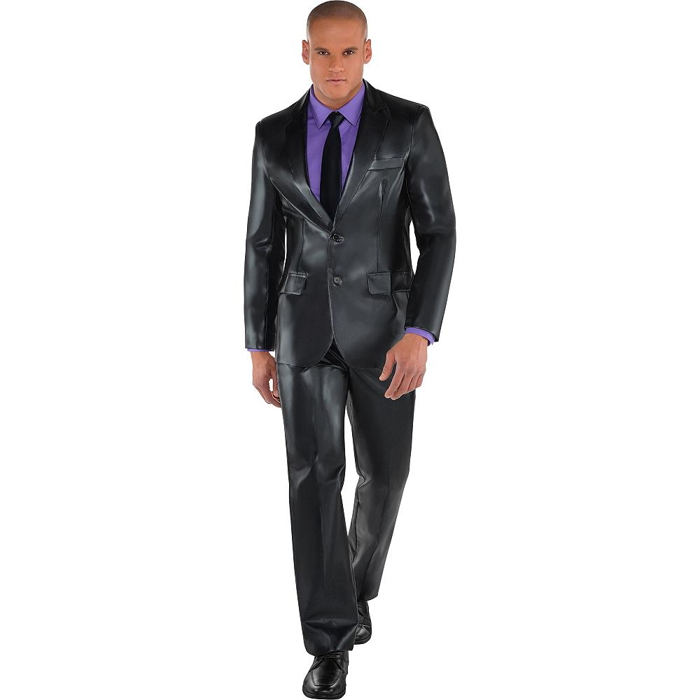 Adult Metallic Black Suit Image #1
