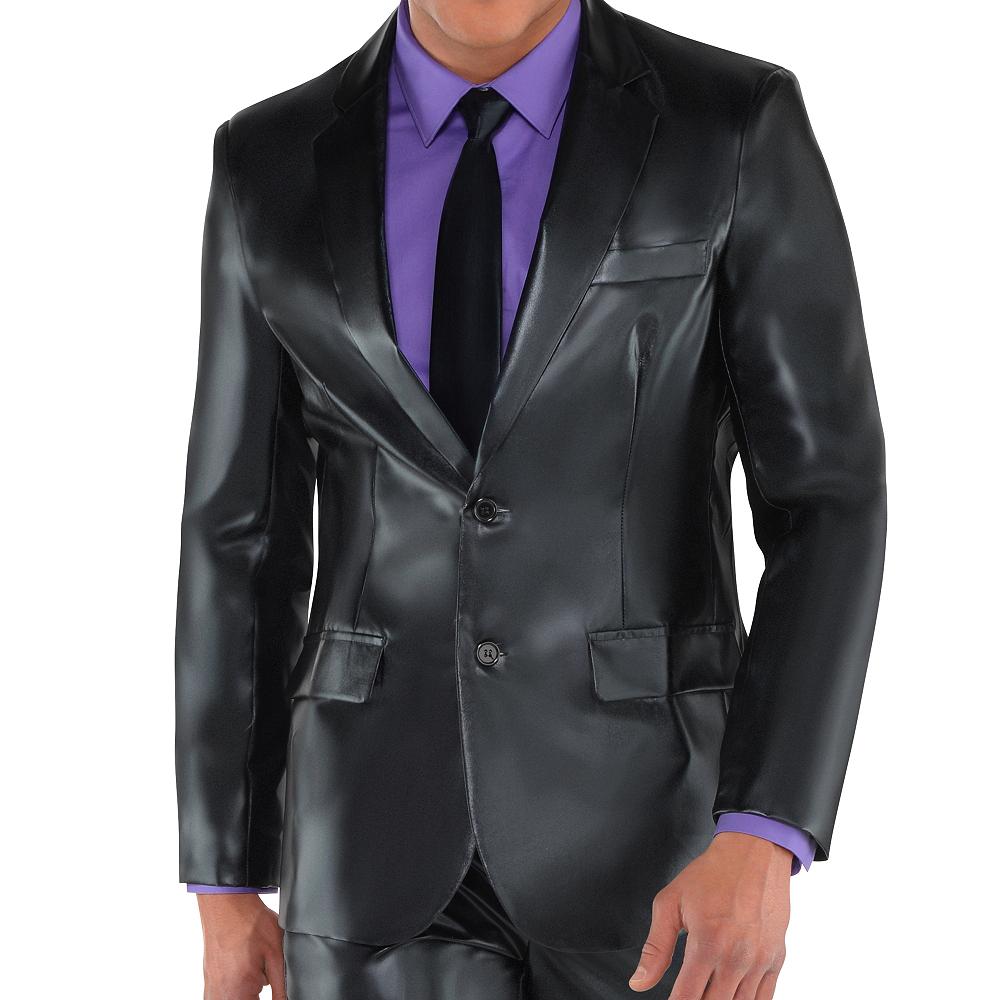 Adult Metallic Black Suit Image #2