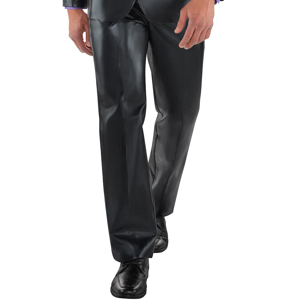 Adult Metallic Black Suit Image #3