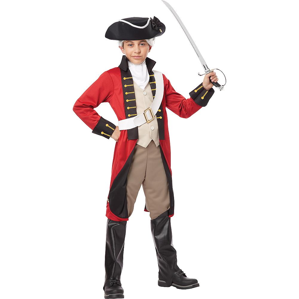 Boys British Red Coat Costume Image #1
