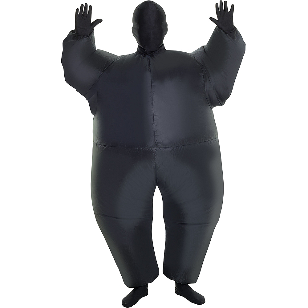 Child Inflatable Black Morphsuit Image #1