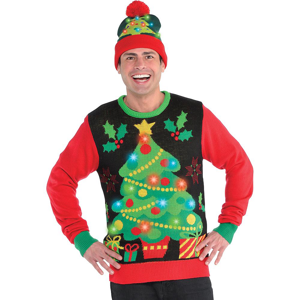 Light Up Christmas Sweater.Light Up Christmas Tree Ugly Christmas Sweater