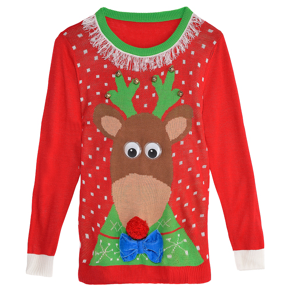 Reindeer Ugly Christmas Sweater | Party City