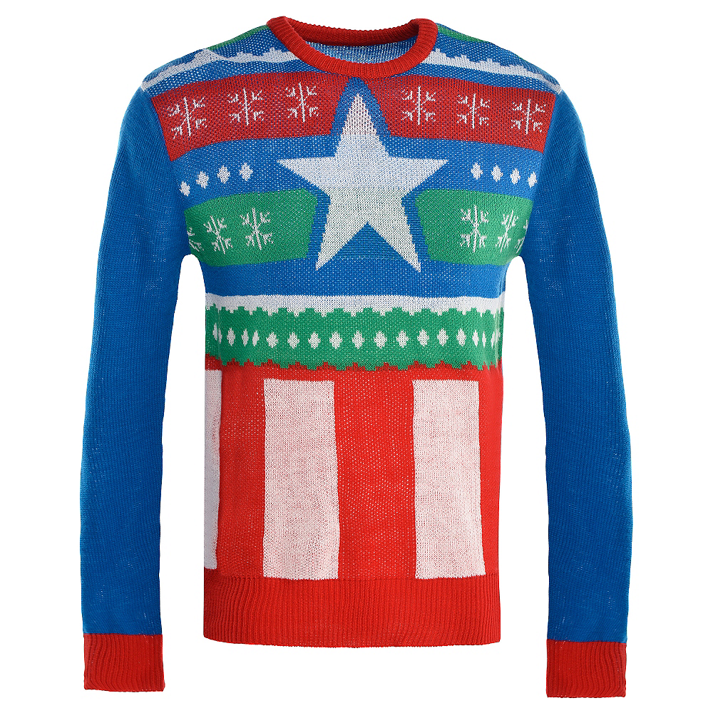 Nav Item for Captain America Ugly Christmas Sweater Image #1