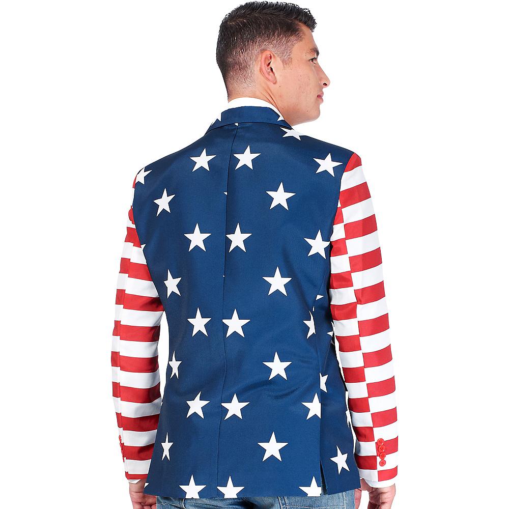 Stars & Stripes USA Suit Jacket Image #3