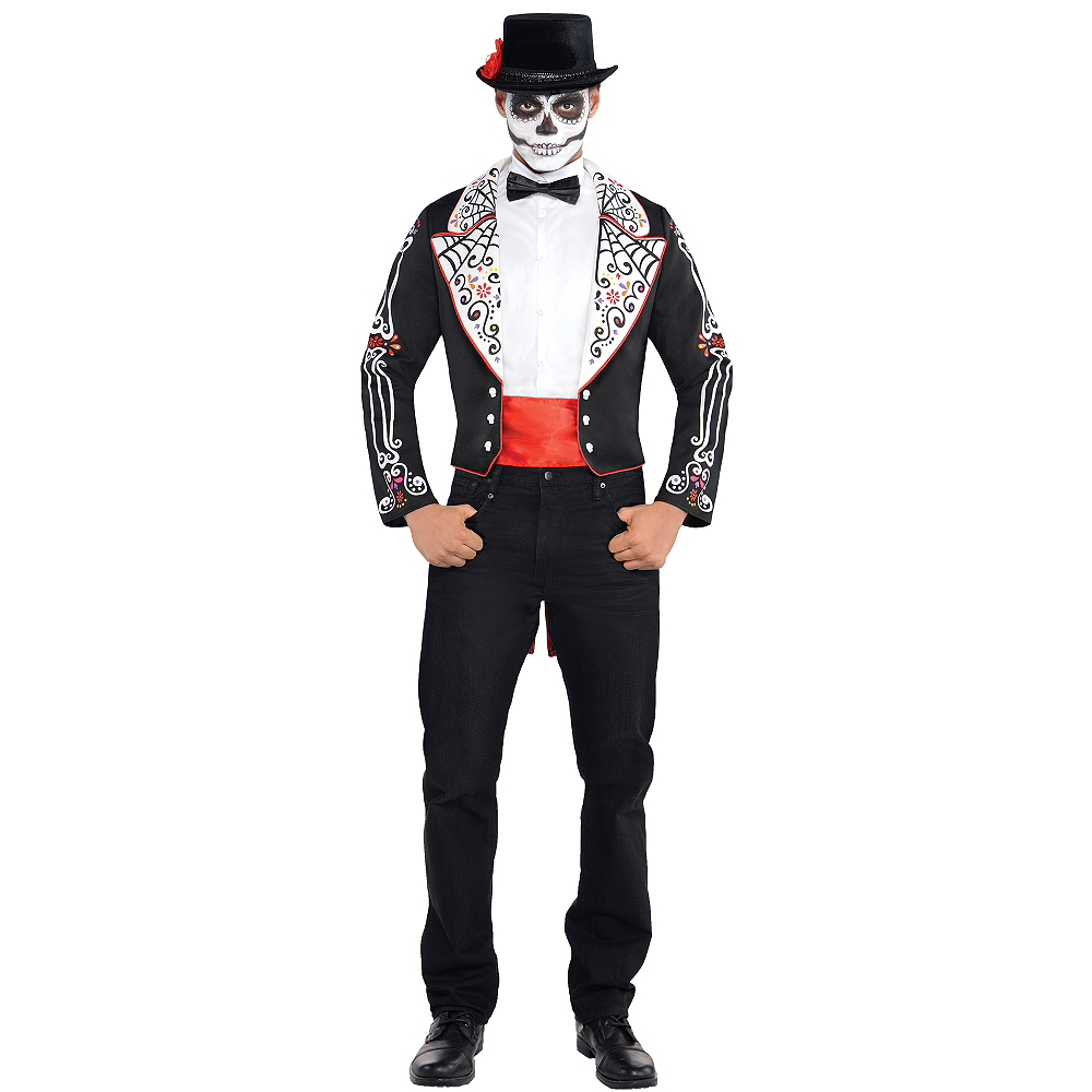 Adult Day of the Dead Costume Image #1