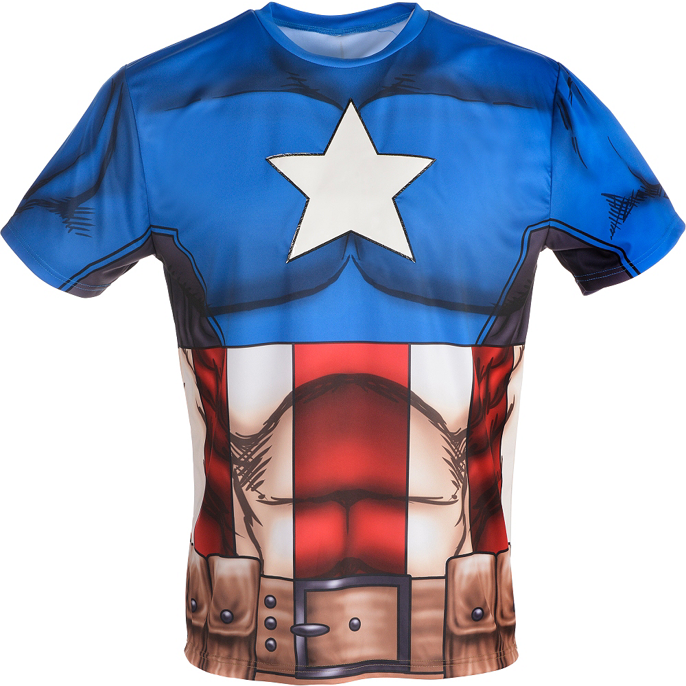 Adult Captain America Costume Image #4