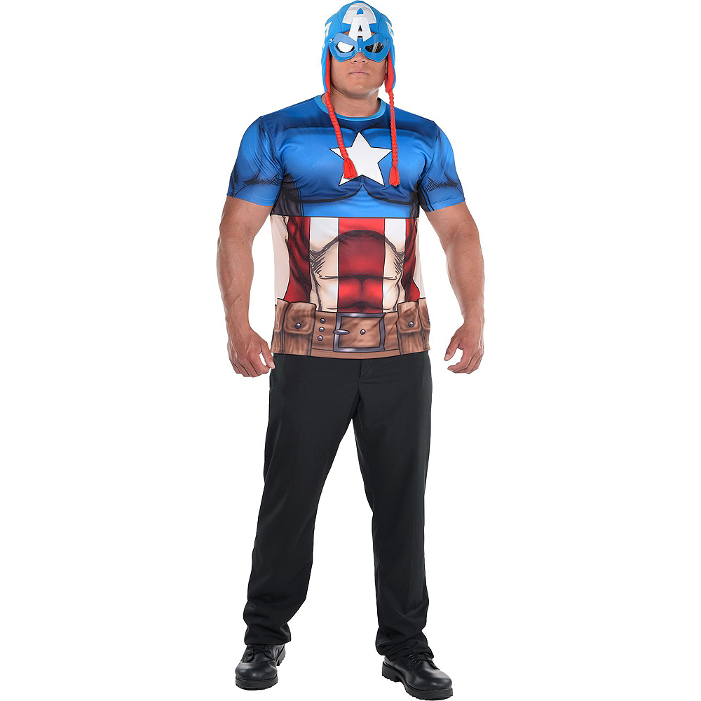 Nav Item for Adult Captain America Costume Plus Size Image #2