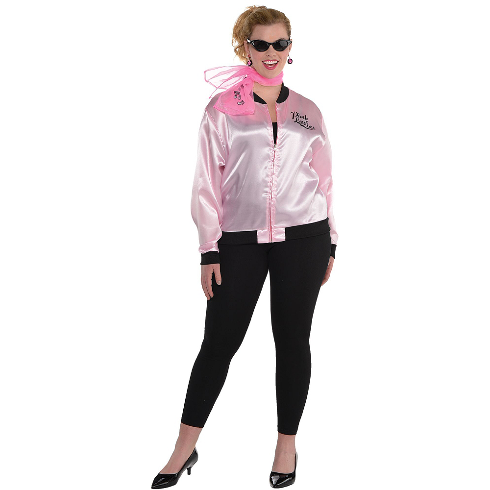 afe80e64804ab ... Adult Pink Ladies Costume Plus Size Image  2 ...