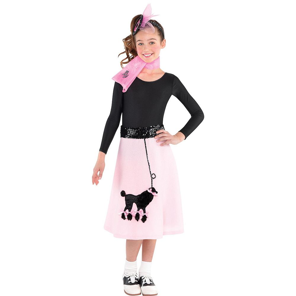 Girls Poodle Skirt Costume Image #3