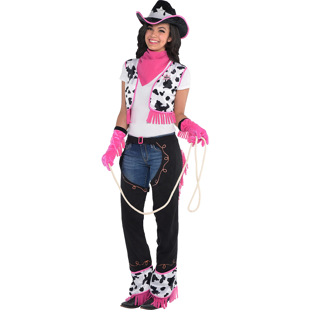Adult Pink Cowgirl Costume Image  1 ... a561ccc69a54