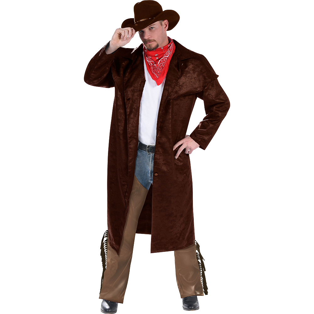 Adult Cowboy Costume Deluxe Image #1