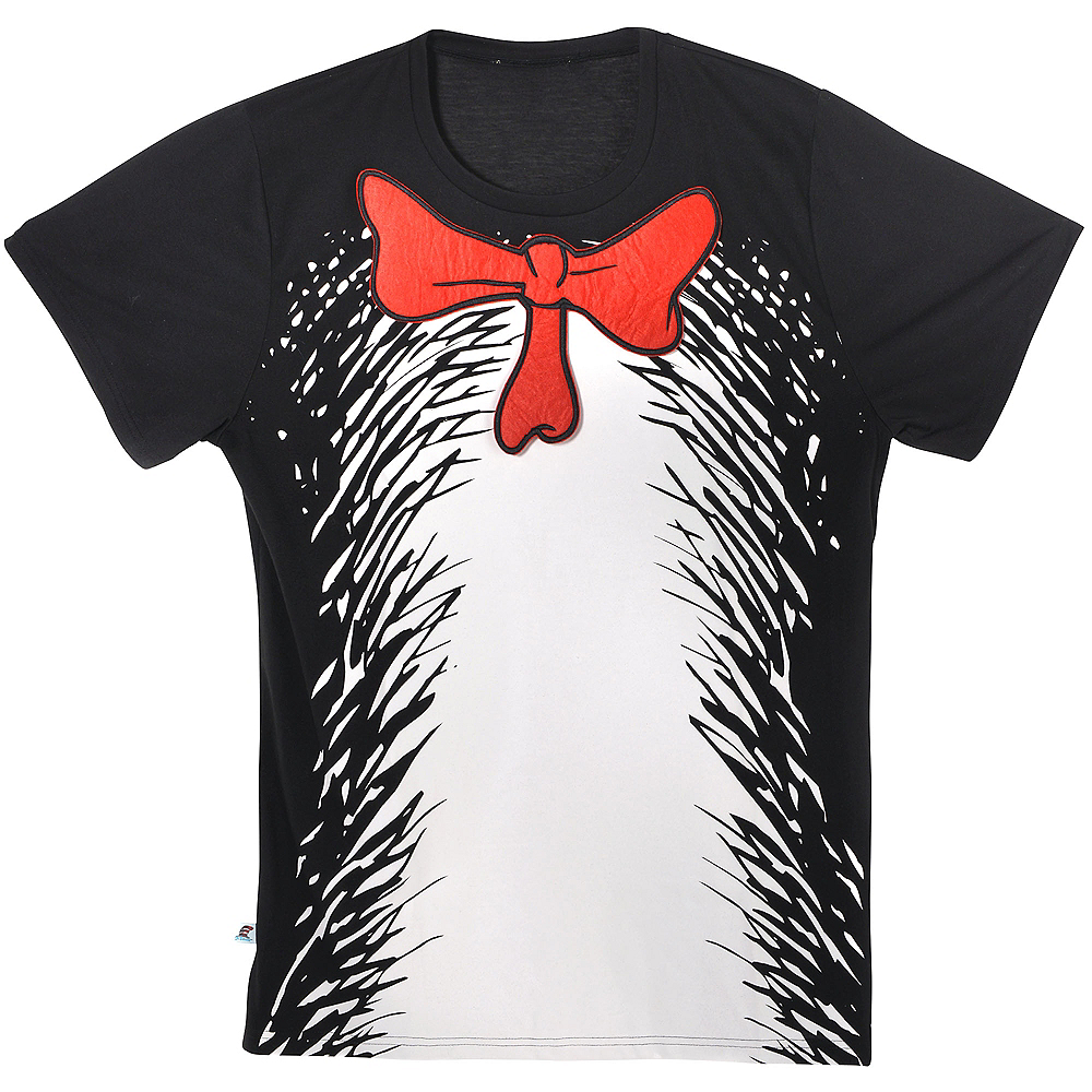 Adult Cat In The Hat T Shirt Dr Seuss Party City
