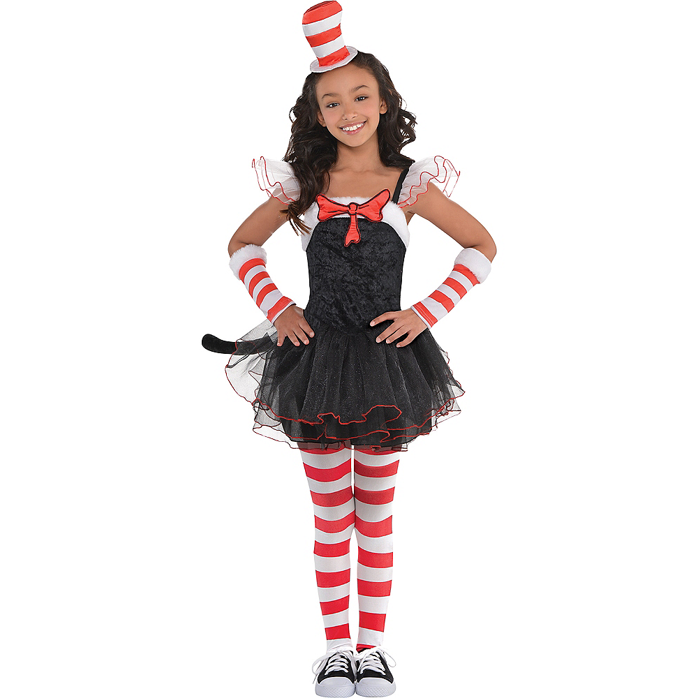 Girls Cat in the Hat Tutu Costume - Dr. Seuss Image #1