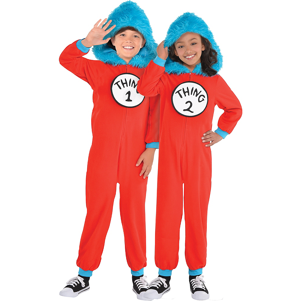 Child Thing 1 & Thing 2 One Piece Costume - Dr. Seuss Image #1