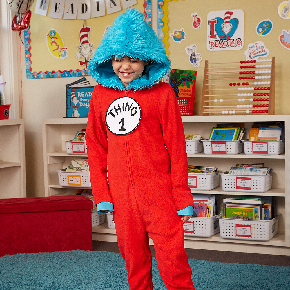 Child Thing 1 & Thing 2 One Piece Costume - Dr. Seuss Image #2