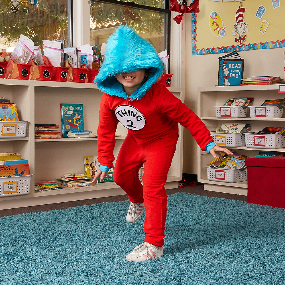 Child Thing 1 & Thing 2 One Piece Costume - Dr. Seuss Image #3