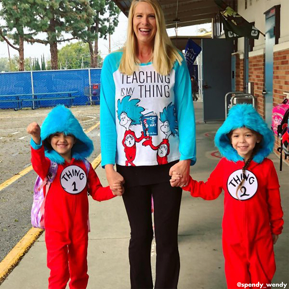 Child Thing 1 & Thing 2 One Piece Costume - Dr. Seuss Image #4