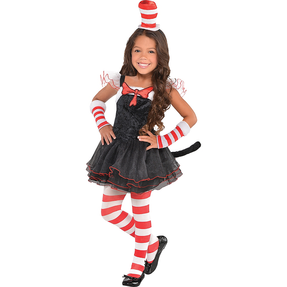 Toddler Girls Cat in the Hat Tutu Costume - Dr. Seuss Image #1