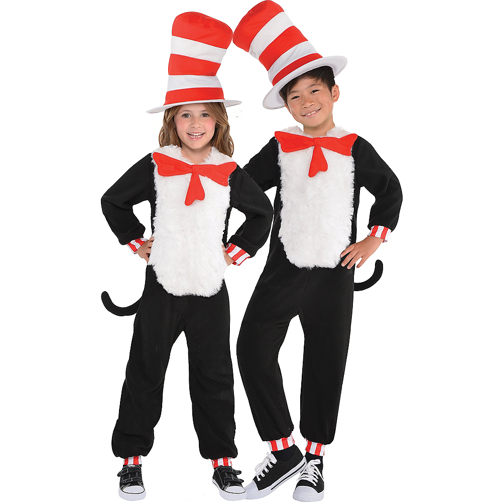 Child Cat in the Hat One Piece Costume - Dr. Seuss Image #1