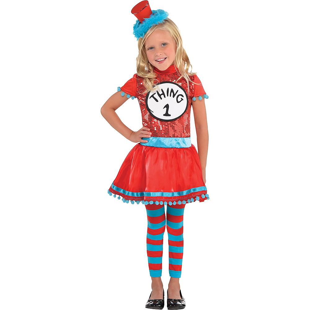 Toddler Girls Thing 1 & Thing 2 Dress Costume - Dr. Seuss Image #1