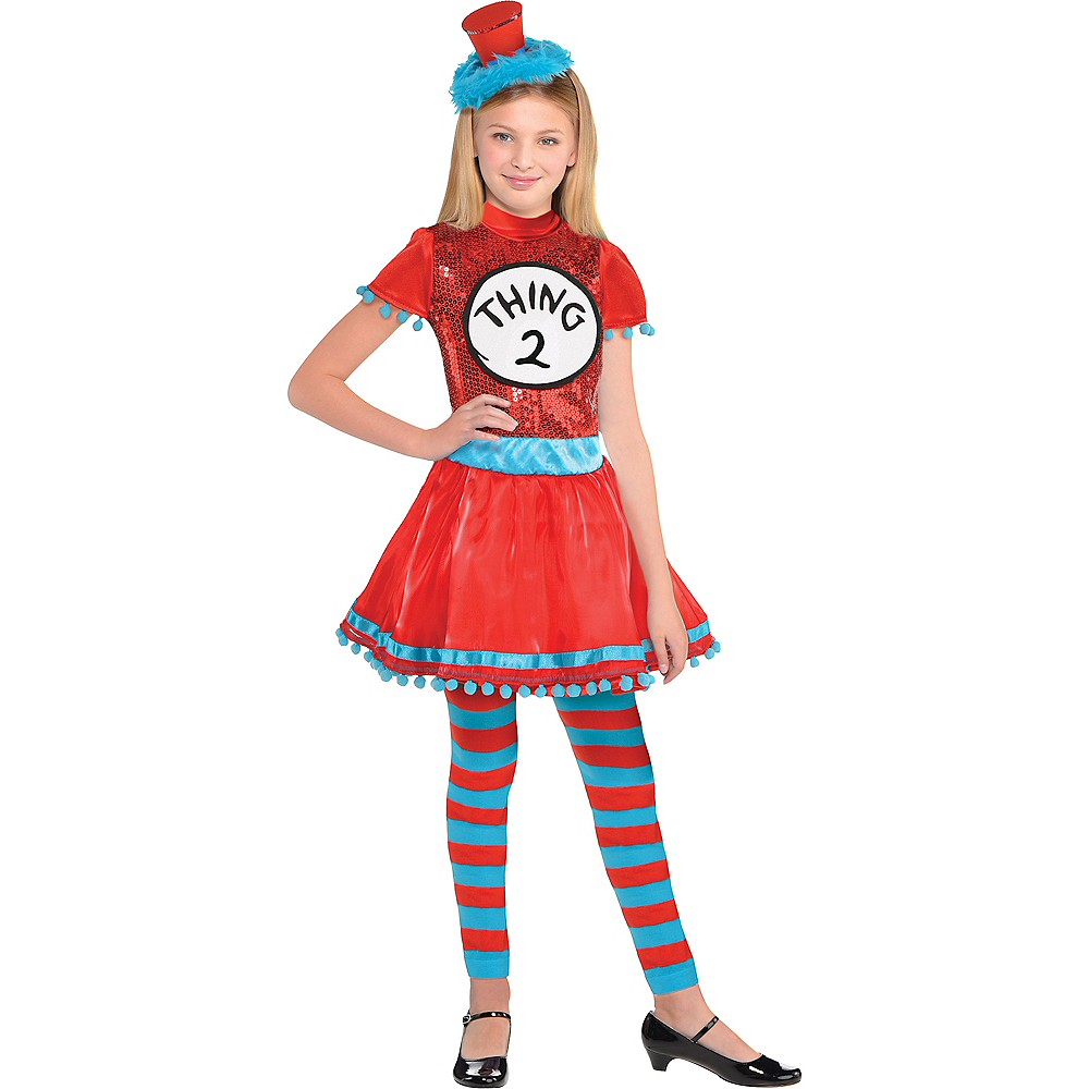 Girls Thing 1 2 Dress Costume