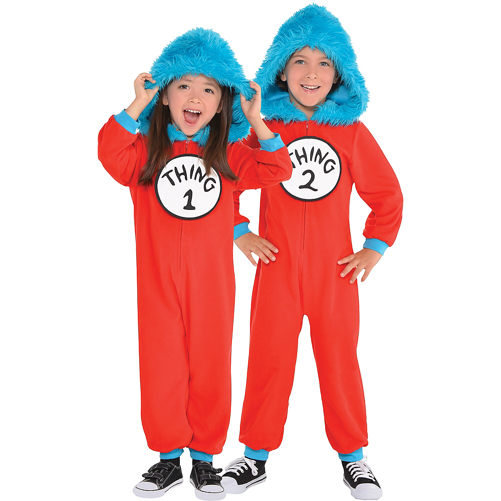 Toddler Thing 1   Thing 2 One Piece Costume - Dr. Seuss Image  1 0d744c98a