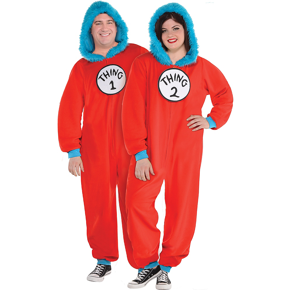 Adult Thing 1   Thing 2 One Piece Costume - Dr. Seuss Image  1 ed4573bca