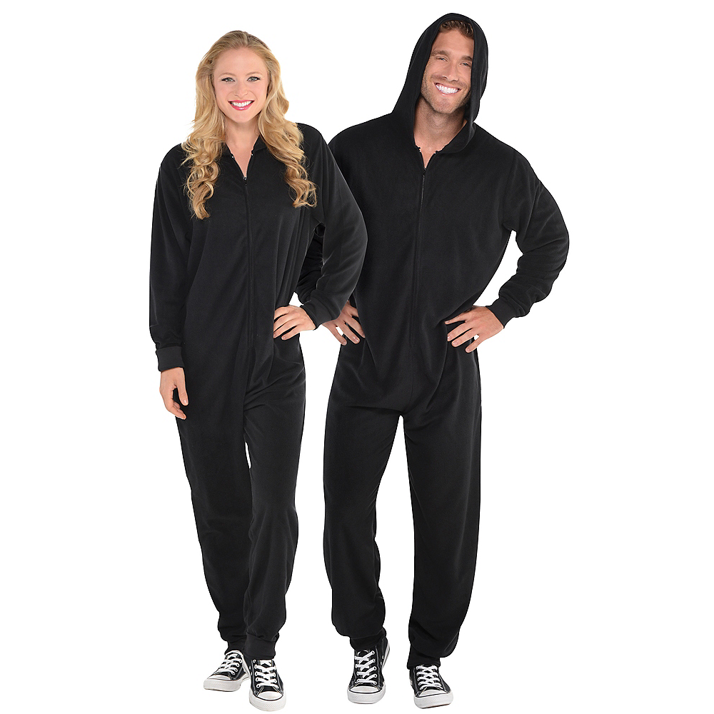Adult Zipster Black One Piece Costume Image #1