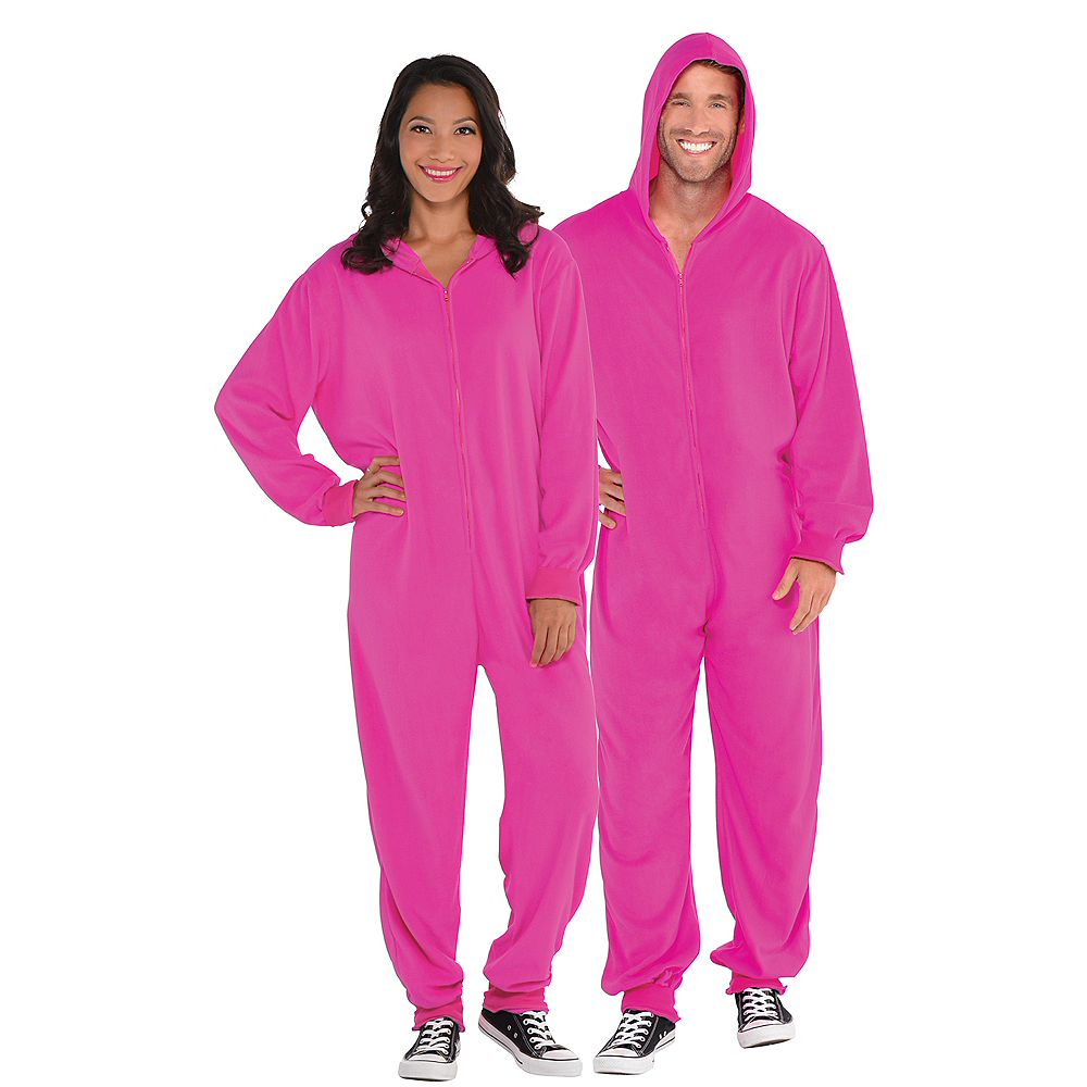 Adult Zipster Pink One Piece Costume Image #1