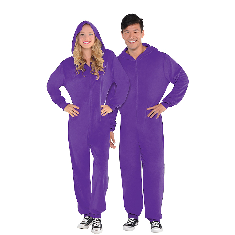 Adult Zipster Purple One Piece Costume Image #1