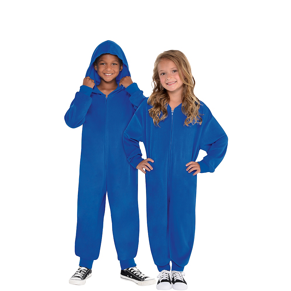 Nav Item for Child Zipster Blue One Piece Costume Image #1