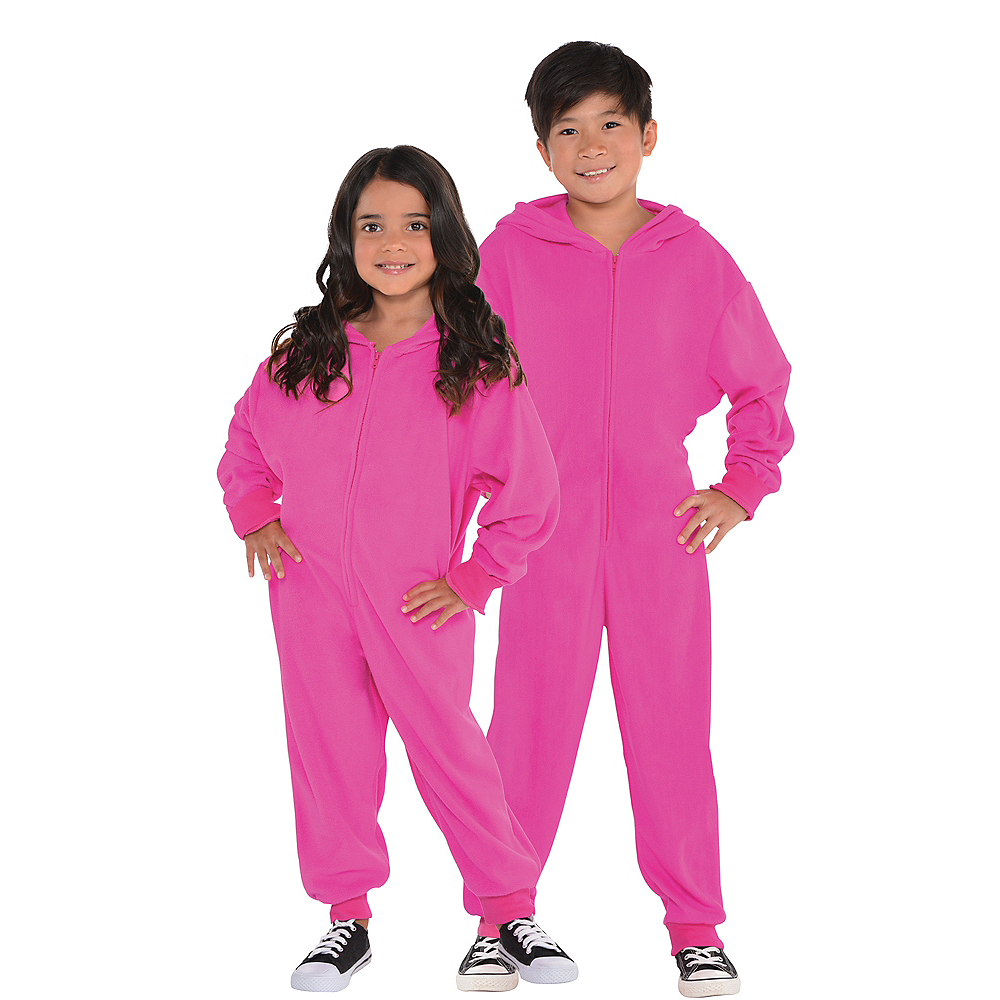 Child Zipster Pink One Piece Costume Image #1