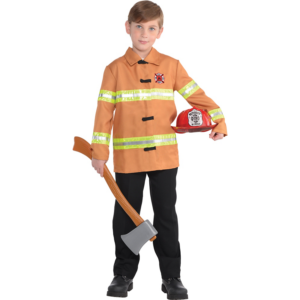 Boys Firefighter Costume Image #1