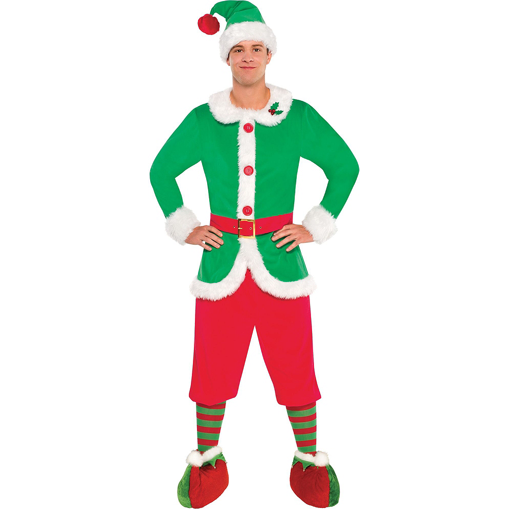Adult North Pole Elf Costume Image #2