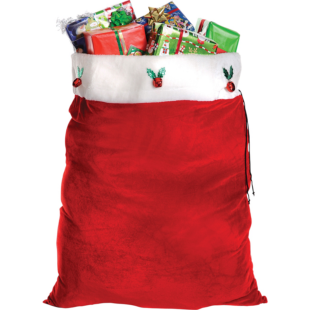 Adult Plush Red Santa Suit Costume Kit Image #3
