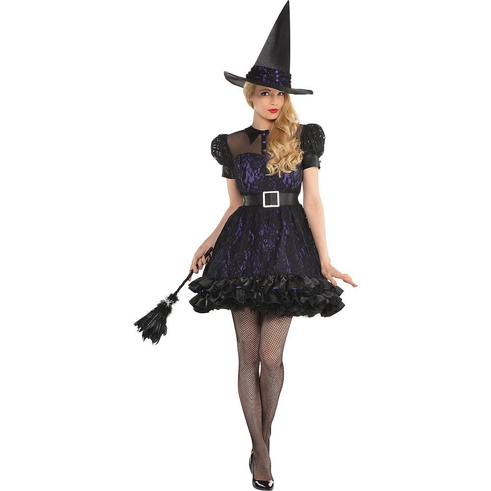 Adult Black Magic Witch Costume Image #1