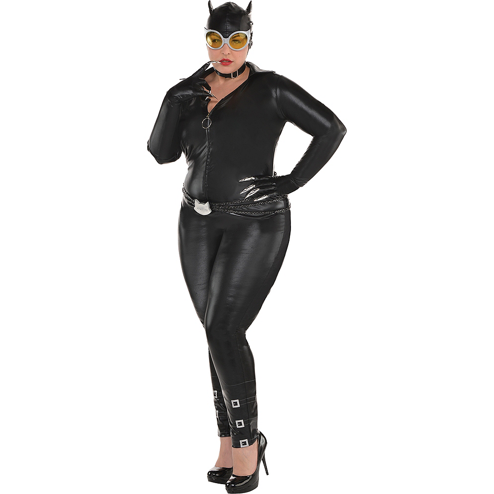 Nav Item for Adult Catwoman Costume Plus Size - DC Comics New 52 Image #1