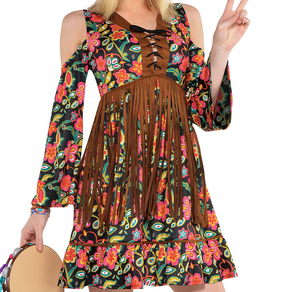 Adult Flower Power Hippie Costume Image #2