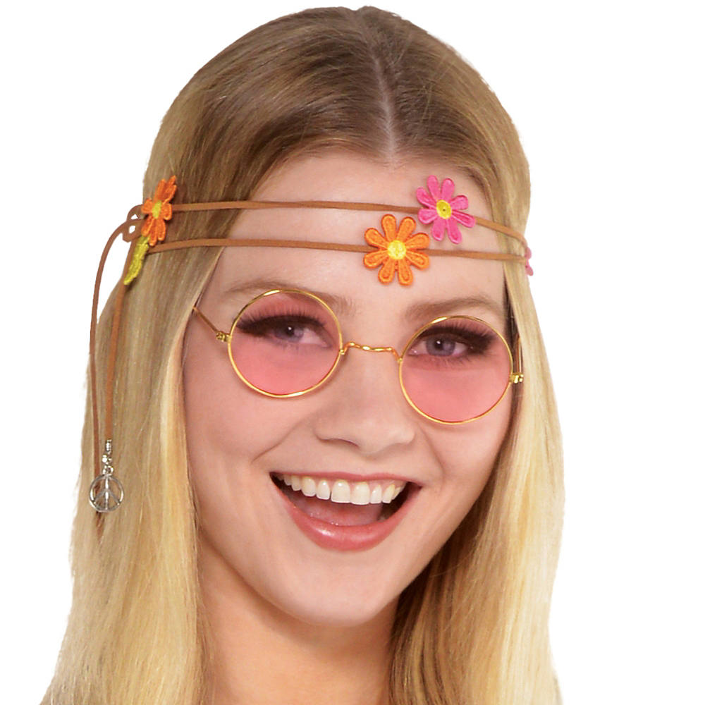 Adult Flower Power Hippie Costume Image #3