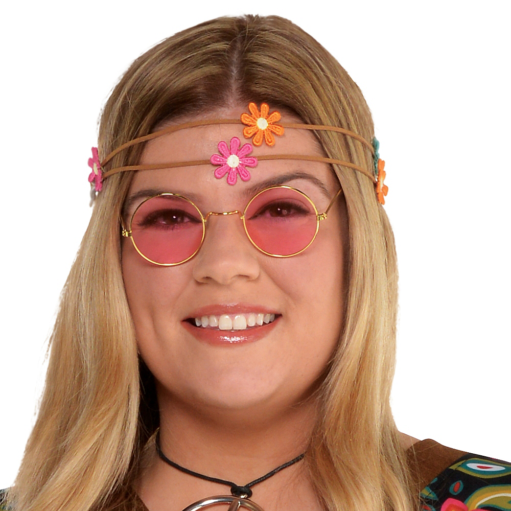 Adult Flower Power Hippie Costume Plus Size Image #3