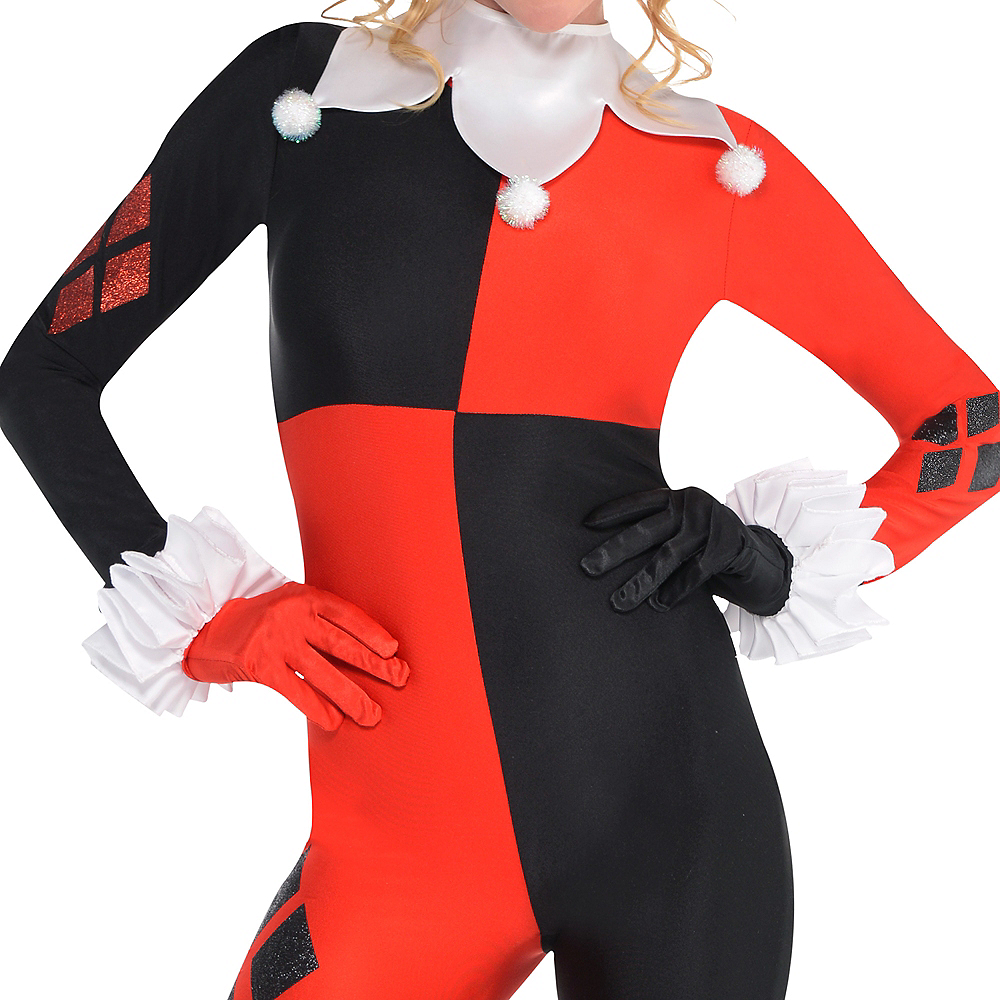 Nav Item for Adult Harley Quinn Jumpsuit Costume - Batman Image #3